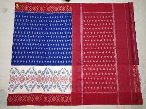 Pochampally Mercerised Double Ikkat Cotton Sarees