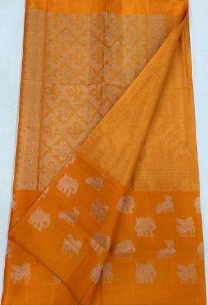 Pure Handloom Gadwal Tissue Silk Sarees