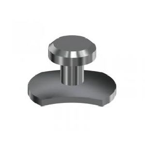 Elliptical Base Lingual Button