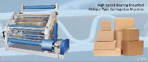Bearing Mounted Oblique Type Paper Corrugating Making Machine