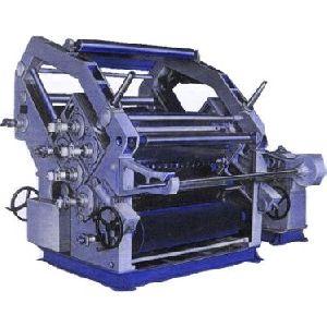 Double Profile Single Facer Paper Corrugating Making Machine