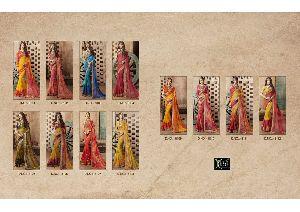 Kessi Bandhej vol 8 jeorgette emb.print saree catalog