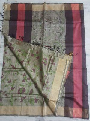 All Over Printed Silk Saree