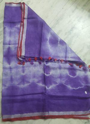 Linen Tie Dyes Saree