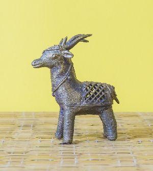Dokra Brass Deer Statue