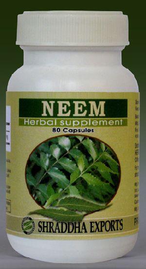 Neem Capsules (azadirachta Indica Leaves Powder Capsules)