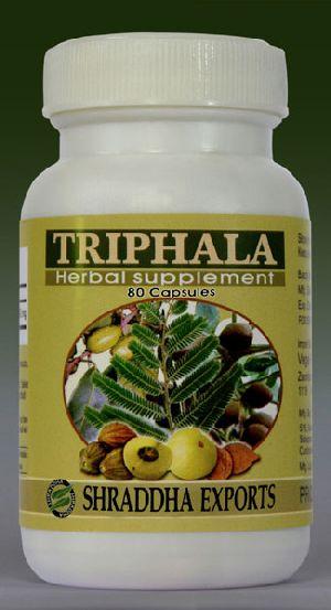 Triphala Capsules (terminalia Chebula Terminalia Bellirica Phyllanthus Emblica)