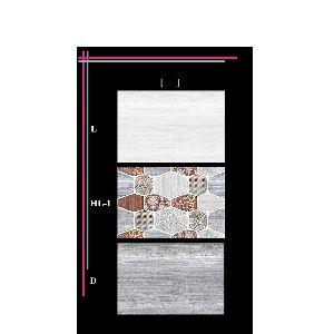 3d Brown White Digital Design Ceramic Kitchan Wall Tiles 14