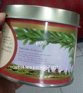 Herbal Tea Packaging Tin Container