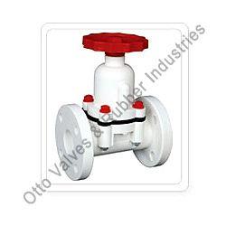 pp diaphragm valve flange end