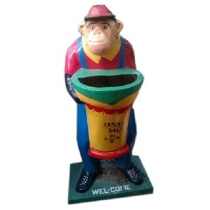 Frp Monkey Shaped Dustbin