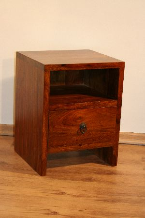BDS - Cube Wooden Bedside Table