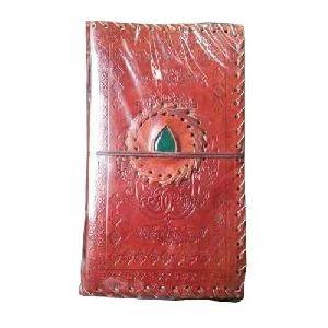 Stone Stitch Emboss Leather Diary