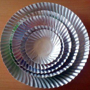 Disposable Silver Foil Paper Plate