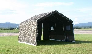 Camouflaged Army Tent