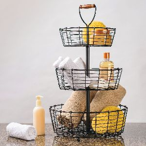3-tier Iron Wire Basket