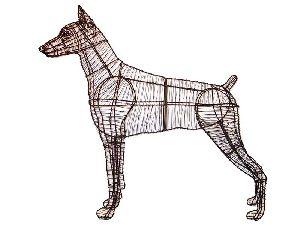 Decorative Iron Dog Sculpture