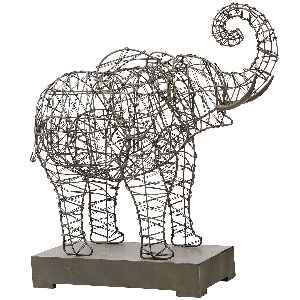 Decorative Iron Elephant Sculpture