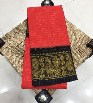Pure Handloom Kanchi Cotton Sarees