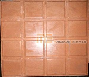 Glossy Finish Sixteen Square Red Parking Tile