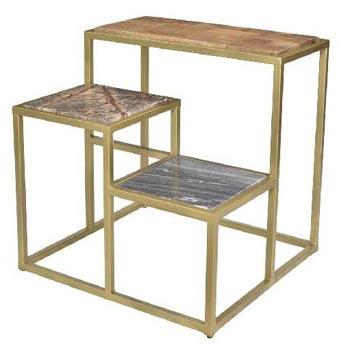 Axton Stone Iron Table