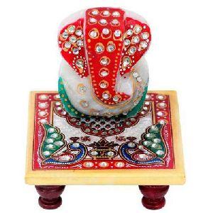 Handicraft Marble Ganesh Chowki
