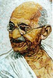 Gandhiji Design Glass Mosaic Tile