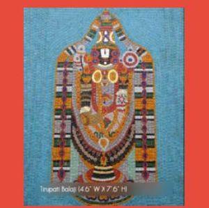 Tirupati Balaji Mural Glass Mosaic Tile
