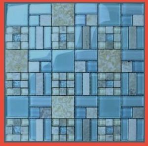Kitchen Blue Backsplash Mosaic Tile