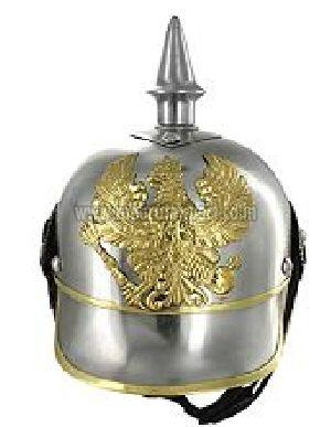 German Pickelhaube Leather Helmet With Adjustable