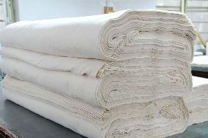 100% Plain Cotton Grey Woven Fabric
