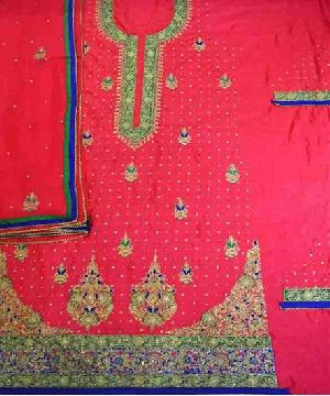 Silk Embroidered Unstitched Suit