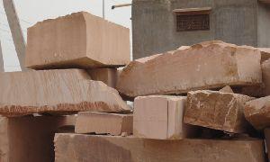 Pink Sandstone Block