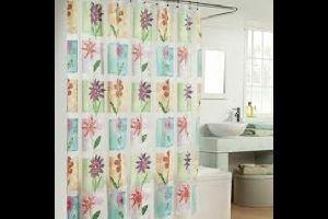 Translucent Printed Shower Curtain