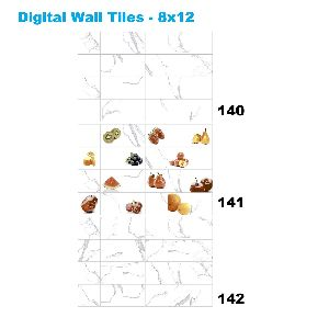 Ceramic Digital Ivory Glossy Ceramic Wall Tiles 142