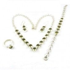 Silver Jewelry Ethnic Lemon Topaz Gemstone Jewelry Set