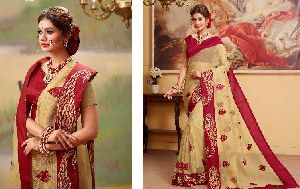Cotton Embroidered Sarees