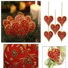 Bead Embroidery Christmas Decoration Hanging