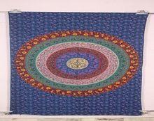 Tapestry Cotton Yoga Mat Round