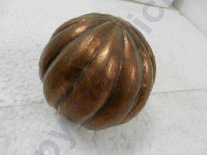 Wooden Hand Carve Golden Christmas Tree Ball