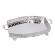 Rectangular Engraved Silver Plated Tray