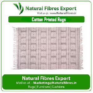 Block Printed Cotton Rug