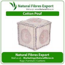 Cotton Cube Pouf