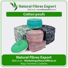 Cotton Printed Poufs
