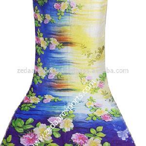 Digital Print Handwoven Indian Linen Sari