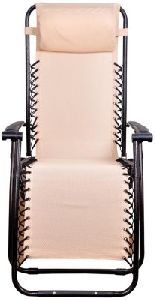 Relax Recliner Folding Chair In Beige