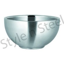 Stainless Steel Double Wall Footed Bowl