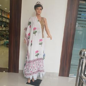 Beautiful Indian Handmade Cotton Hand Block Printed Scarfs Dupatta
