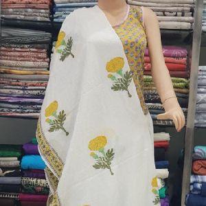 Cotton Printed Women New Long Wrap Stoles Dupatta