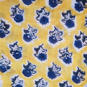 Hand Block Print Organic Sewing Cotton Printed Fabrics